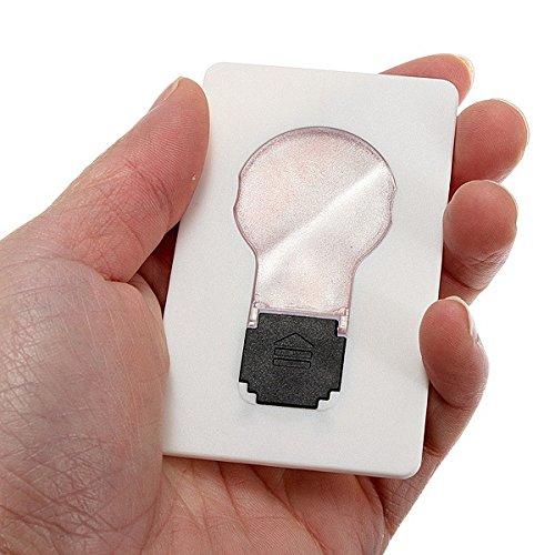Innovey 5 x led-kaart, draagbaar, zaklamp, portemonnee, noodverlichting