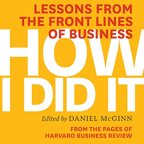 How I Did It audiobook cover art