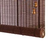 Persianas enrollables Persianas Enrollables de Bambú, con Filtración de Luz Al 60%, Persiana Enrollable con Protección UV, para Ventanas Interiores y Exteriores, con Ganchos y Cuerda de Tracción