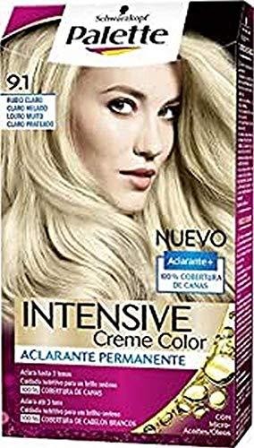 Palette Intense - Tono 9.1 Rubio Claro Claro Helado - Coloración Permanente - Schwarzkopf