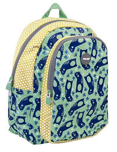 MILAN Mochila Escolar Pequeña Net&lit Verde Mochila infantil, 33 cm, Verde