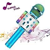 Microfono wireless Karaoke, Altoparlante Bluetooth portatile, Compatibile con smartphone i...