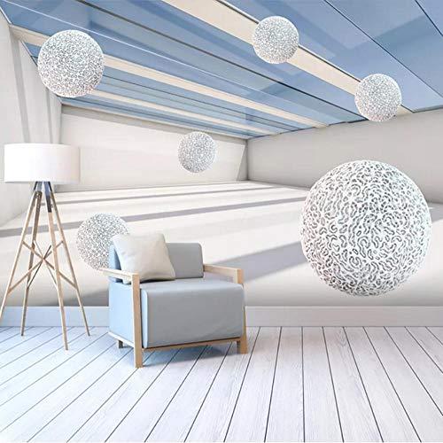 Shuangklei Bildertapete Tapete Moderne Abstrakte Raum 3D Stereoscopic Kreis Kugel Wohnzimmer Tv-Hintergrund-Wand-Papiere Home Decor-280x200cm