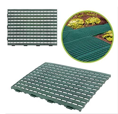 UPP Haus- & Gartenmatte | Rutschhemmend auch als Pool Matte | Schützt Rasen, Balkonboden und Terrassenplatten [2 Stk., je 60 x 45 cm, grün]