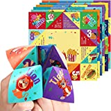 Valentines Cootie Catcher Games for Kids, Valentines Day Cards with Envelopes for Kids School Classroom Valentines Party and Valentines Gift Exchange (36 Pack)