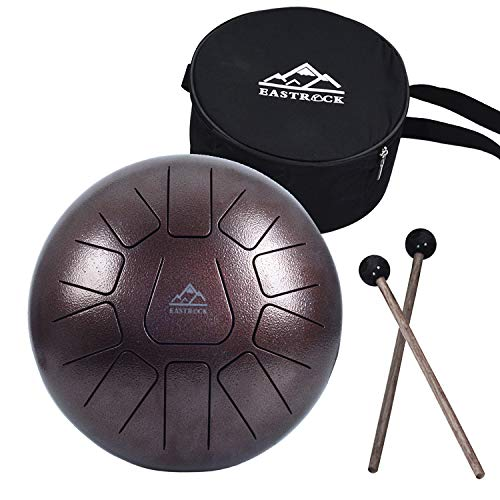 13-Notes, White Niome 12 Inch Steel Tongue Drum 13 Notes Black w//Travel Bag and Mallets,Tank Drum Chakra Drum,Percussion Hang Drum Instrument