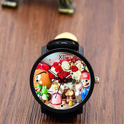 FENGHE Super Mario Uhren koreanische Version von Super Mario Herrenuhren kreative männliche und weibliche Studenten Geschenke Geburtstagsgeschenke