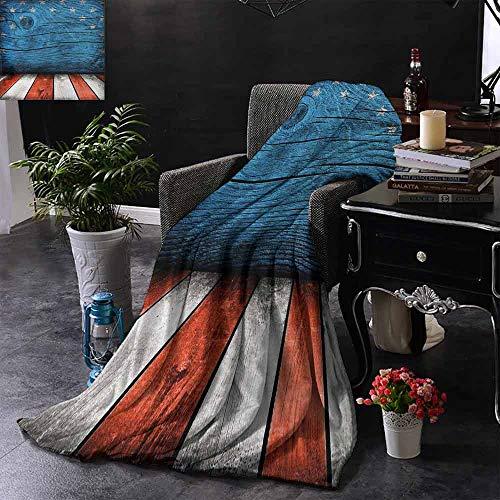 GGACEN bont gooien deken Rustiek Leeg Houten Patroon Interieur Amerikaanse Vlag Ontwerp Warm & Hypoallergeen Wasbare Bank/Bed Gooien
