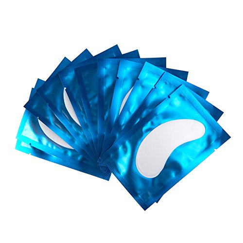 50 Paar Augenpads für Wimpernverlängerung Fusselfrei Augen Gel Patch Hydrogel Augenpads Profi Lint Free Eye Gel Patch for Eyelash Extensions Augenwimper (Blau)