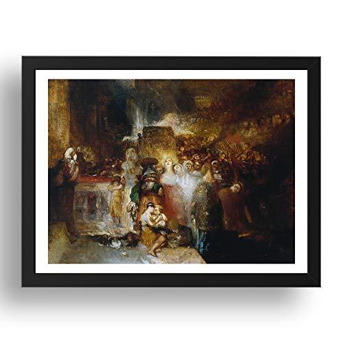 Period Prints 1830 - Póster de Pilato lavándose las manos, 1830 por Joseph Mallord William Turner RA, reproducción A3 en marco de 17 x 13 pulgadas
