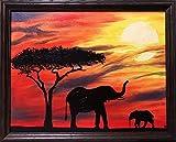 AQgyuh Puzzle 1000 Piezas Elefante árbol y Madre-Hijo en Juguetes y Juegos Juego de Habilidad para Toda la Familia, Colorido Juego de ubicación.50x75cm(20x30inch)