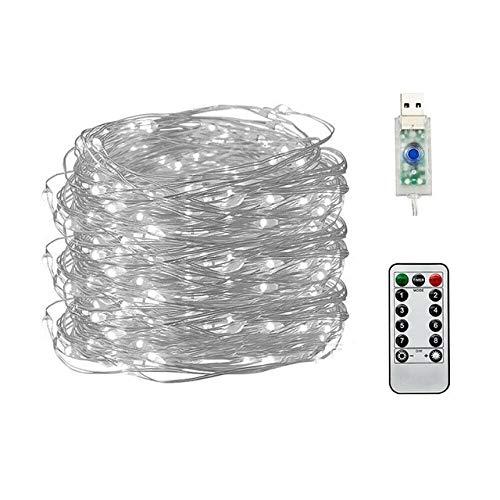 Cadena de Luces LED de 25 pies, luz de Cadena de Boda de Hadas, Bombilla LED de Guirnalda de Globo, Guirnalda de jardín de Fiesta al Aire Libre