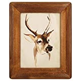 icheesday Picture Frame 5x7 Inch,Rustic Wood Photo Frames with Real Glass,Wall Hanging and Tabletop Standing,Vertical or Horizontal Display (Brown)