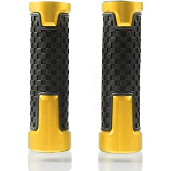 22mm 7//8 Poign/ées de Guidon pour Suzuki GSF 250 600 600S 650 650S 650N 1200 1250 Bandit 650S-Jaune