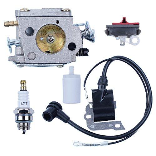 HAISHINE carburador Bobina de Encendido Interruptor bujía Kit de Filtro de Combustible para Husqvarna 266 268 272 XP 272XP Piezas del Motor de Motosierra