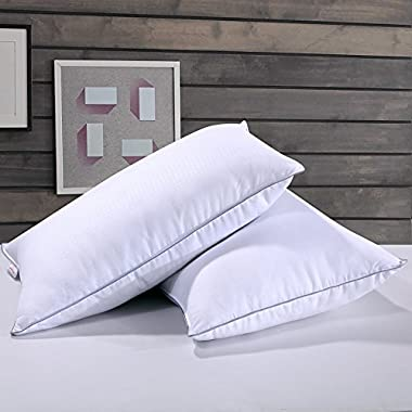 Homelike Moment Down Feather Pillow Feather Bed Pillows for Sleeping Standard Queen Size Set of 2