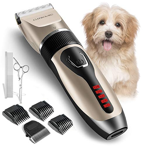 CLEEBOURG Dog Clippers Grooming Kit