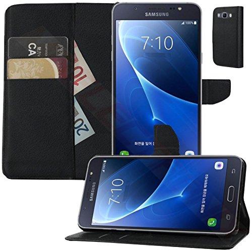 MOELECTRONIX Buch Klapp Tasche Schutz Hülle Wallet Flip Hülle Etui passend für Samsung Galaxy J7 (6) 2016 SM-J710FN