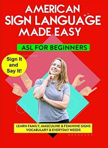 American Sign Language Made Easy Learn Family Masculine Feminine Signs Vocabulary Everyday Needs product image