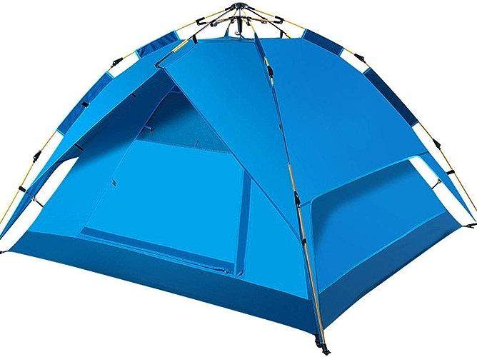 Sortie Udstyr, Tente de Camping, Tente de Camping 3-4 Personnes Pour Adultes - Tente Escamotable Facile à Installer Idéale Pour Camper, Plage, Tente de Camping en Plein Air, Kejing Miao,