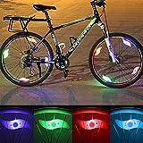 JUSHINI Fahrrad Speichenlicht LED Neon Blitzlampe Wasserdicht Fahrradlicht, Bunte Heiße Räder Lichter Mountainbike Weidenblatt Licht, Fahrradreifen Reflektoren Lichter für Dekoration und Sicherheit