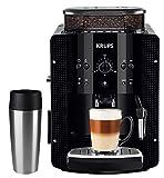 Krups Kaffeevollautomat Arabica Picto 15 bar 1450W + EMSA Travel Mug + 1 Kg Lavazza Kaffeebohnen (automatische Reinigung, 2-Tassen-Funktion, Milchsystem mit CappucinoPlus-Düse, Kaffeemaschine, schwarz