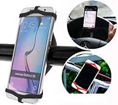 Simple is Better! Attaches to Wrist, Bike, Boat, Chair, Oven, etc! Durable Waterproof Silicone Phone Holder, Bike, Steering Wheel, All Smartphones, Up to 3