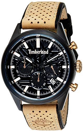 Timberland Herren Chronograph Quarz Uhr mit Leder Armband TBL.15476JSB/02