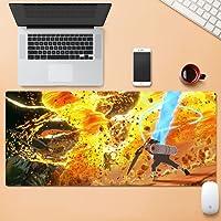 アニメーションゲーム拡張XXLマウスパッド、ステッチエッジ付きマウスパッド、滑り止めラバーベース、コンピューターラップトップキーボードとマウスパッド、防水テーブルマット-Anime05  900x400x4mm