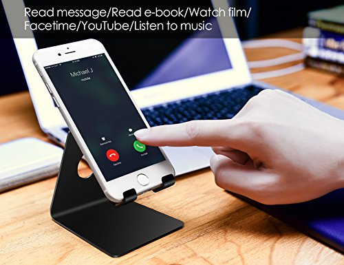 Lamicall Cell Phone Stand, Phone Dock : Cradle, Holder, Stand Compatible with Switch, All Android Smartphone, Phone 11 Pro Xs Xs Max Xr X 8 7 6 6s Plus 5 5s 5c Charging, Accessories Desk - Black
