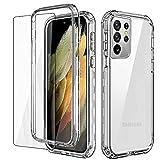 AICase Funda para Samsung Galaxy S21 Ultra,Ultrafina Transparente Case Antigolpes Carcasa para Samsung Galaxy S21 Ultra 5G (6.8 Pulgadas) (2021)