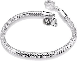 925 الفضة الاسترليني أساور أساور للنساء مجوهرات فضة 3 ملليمتر ثعبان العظام سوار