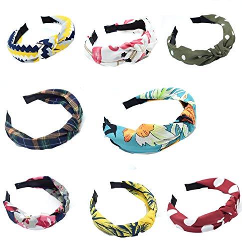 8 stuks haarband dames zomer gedraaide boho elastisch meerkleurig