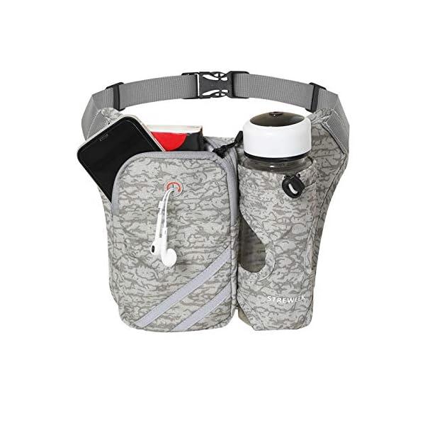 STREWEEK Lightweight Running Waist Packs Hydration Belt with Bottle Holder, No Bounce...