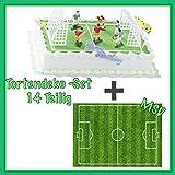 MSDeko Tortendeko -Set Geburtstag Fussball 14 Teilig