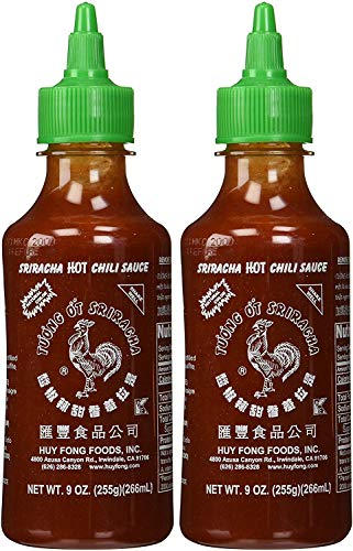 Best Deals! Huy Fong, Sriracha Hot Chili Sauce, 9 Ounce Bottle (2 Pack) (Set of 2(2 Pack))