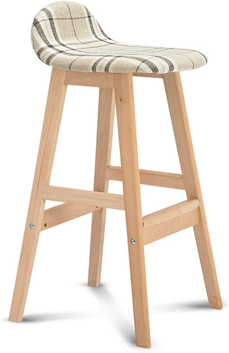 WBBJBD Modern Bar Stool Set, Wooden Footstool and Breakfast Bar, Counter, Kitchen and Home Bar Stool (color   A, Size   One)
