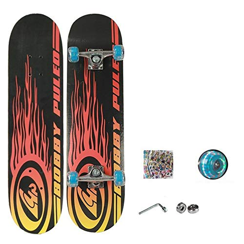 FGKING Kid Skateboard, Radically Intense Acceleration Waveboard with 360 Degree Caster Trucks and Anti Slip Concaved for Kids Ages 8 and Up,1