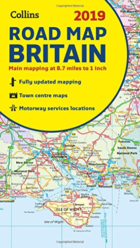 2019 Collins Map of Britain (Collins Maps)