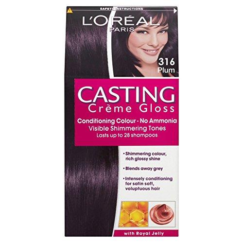 Preisvergleich Produktbild 3 x L'Oreal Paris Casting Creme Gloss Conditioning Colour 316 Plum