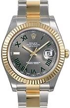 Rolex Datejust II Grey Roman Dial 18kt Yellow Gold Bezel Two Tone Oyster Bracelet Mens Watch 116333GYRO