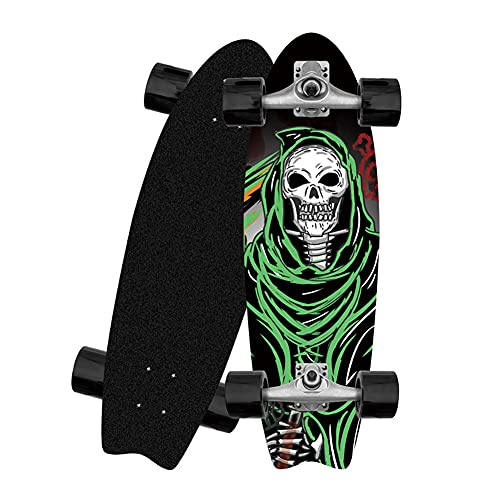 ZBYL Completo Skateboard para Principiantes Cruiser Carving Arce Monopatin para Adulto Carver Surfskate Deck para Adolescentes Niños 81×25CM Fancy Maple Longboard, ABEC-9 Rodamientos, CX4 Truck
