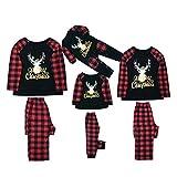 Pijamas Mujer Camisón Conjuntos De Pijamas De Navidad A Juego con La Familia, Ropa De Dormir De Navidad para La Familia, Ropa De Dormir A Juego para Adultos, Madre, Padre, Niño, Dadm Multi
