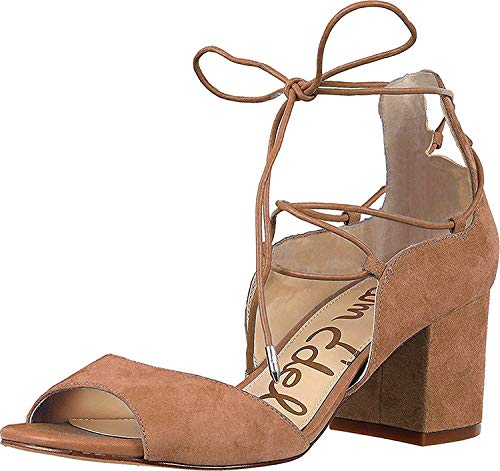 Sam Edelman Women's Serene Dress Sandal, Golden Caramel Suede, 8 M US
