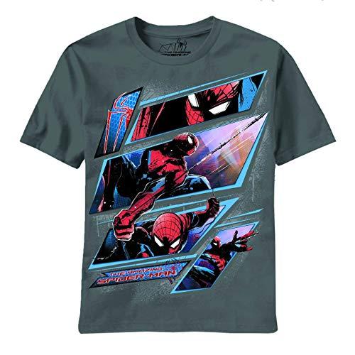Mad Engine Amazing Spider-Man Panel Break Gris T-Shirt | 2XL