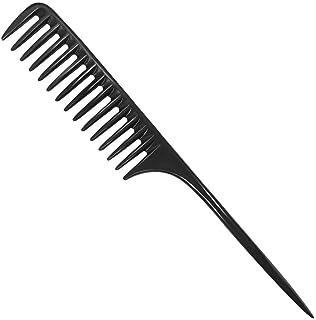 برس مو قابل شانه دندان Wapodeai ، شانه مدل سازی حرفه ای الیاف کربن سیاه ، شانه مو ضد استاتیک مقاوم در برابر حرارت ، مناسب برای انواع موها.