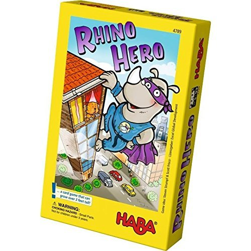 HABA Rhino Hero A Heroic Stacking Card Game for Ages 5 and Up by