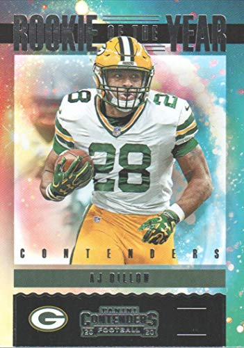 2020 Panini Contenders Rookie of the Year Contenders #RY-AJD A.J. Dillon
