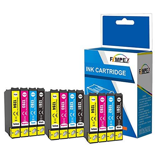 Fimpex Compatibile Inchiostro Cartuccia Sostituzione Per Epson Stylus Office BX305F BX305FW Plus Stylus S22 SX125 SX130 SX230 SX235W SX420W SX425W SX430W SX435W SX438W SX440W T1285 (B/C/M/Y, 12-Pack)