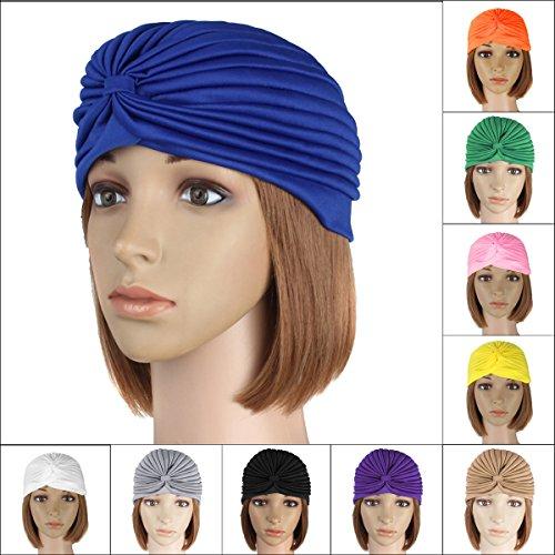 Bazaar muts, purperal, kostuum, turban, chimio, complete hoofdbedekking, wrap, hoeden, hoofddoek, halsdoek, warm